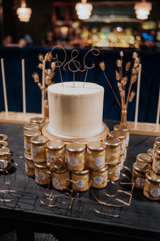 Modern Iced Cake Wire Topper Brighton Town Hall Wedding Bloom Weddings