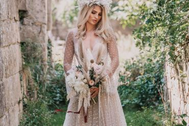 Earthy Boho Wedding Ideas with a Sequin Dress