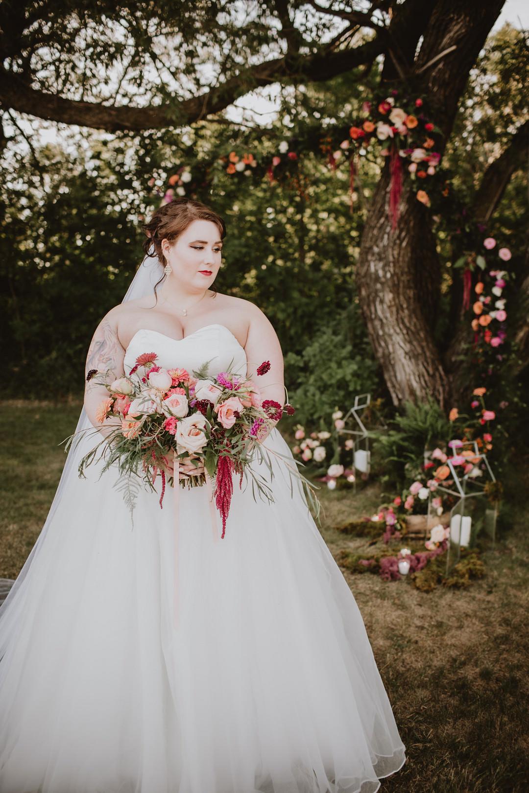 Fairytale Forest Wedding Christina W Kroeker Creative Flower Installation Floral Tree Candle Decor