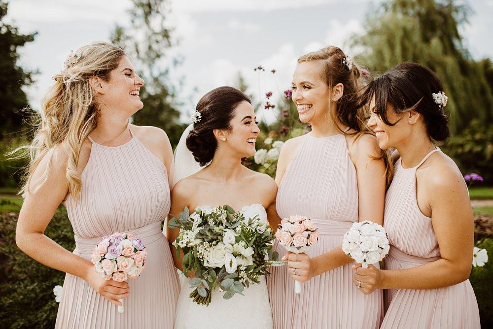 Pale Pink Bridesmaids Bridesmaid Dress Dresses Greek English Wedding Holly Collings Photography