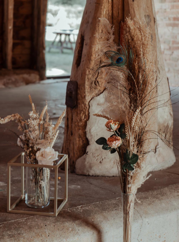 Barn Backdrop Aisle Decor Ligting Flowers Pew End Intimate Wedding Ideas Imogen Eve Photography