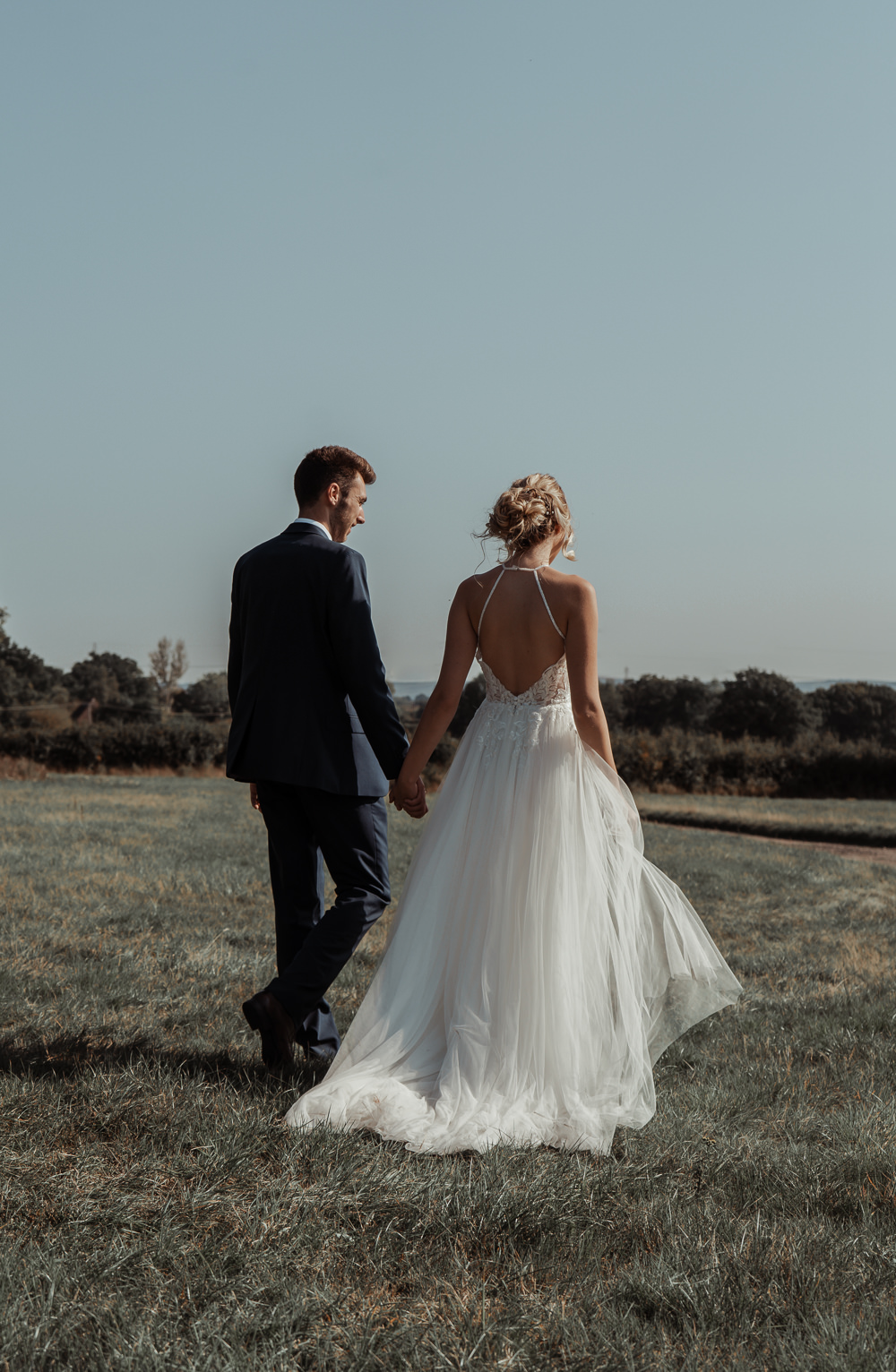 Dress Gown Bride Bridal Tulle Veil Floaty Boho Intimate Wedding Ideas Imogen Eve Photography
