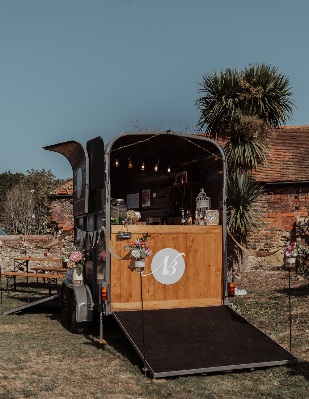 Horse Box Bar Intimate Wedding Ideas Imogen Eve Photography