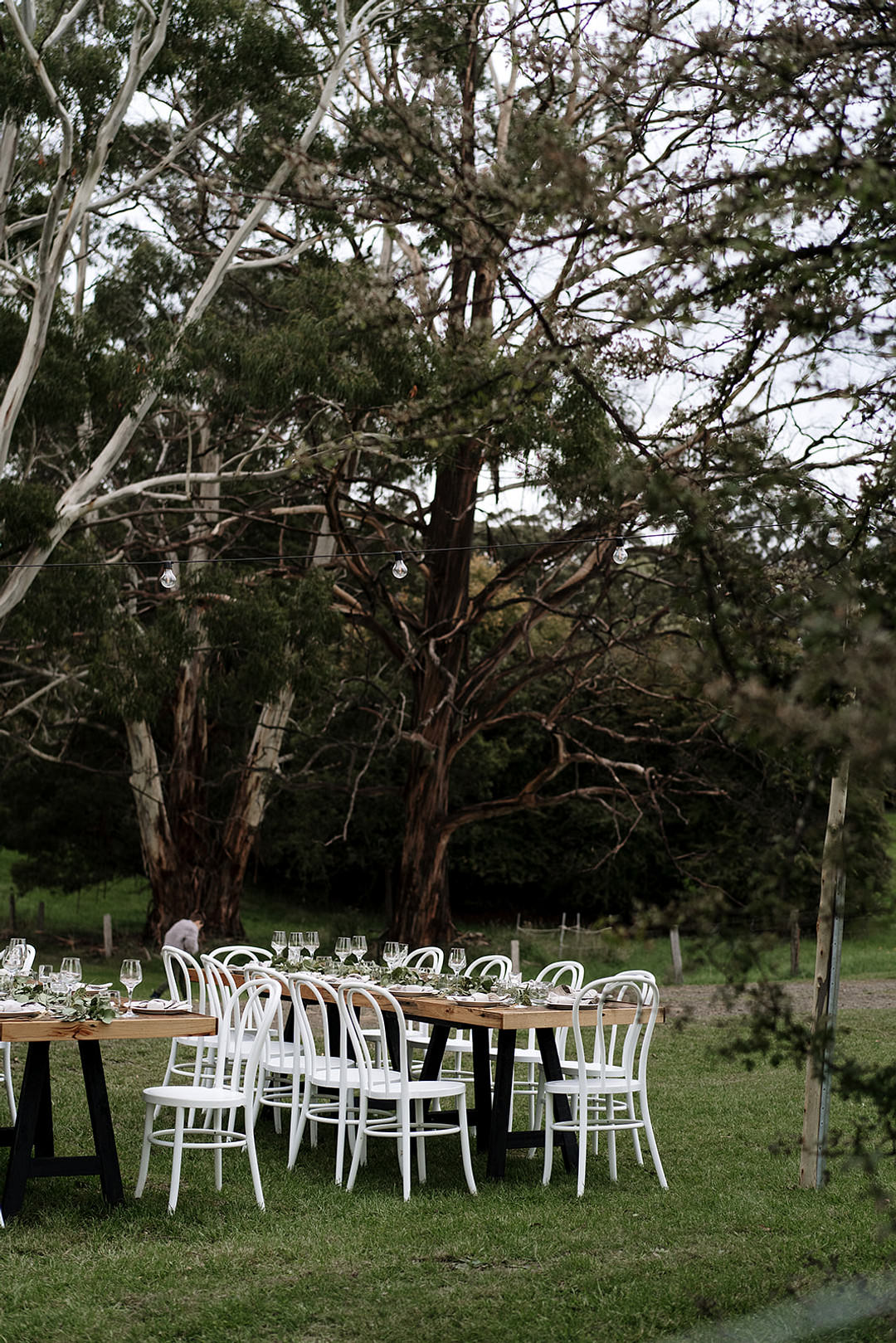 Outdoor Tables Reception Decor Long Mountain Elopement Petite Visuals