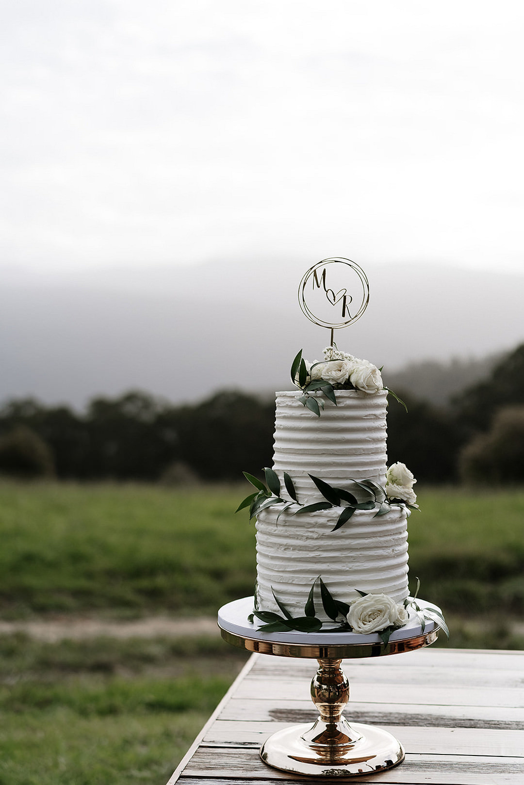 Buttercream Cake Foliage Greenery Topper Mountain Elopement Petite Visuals