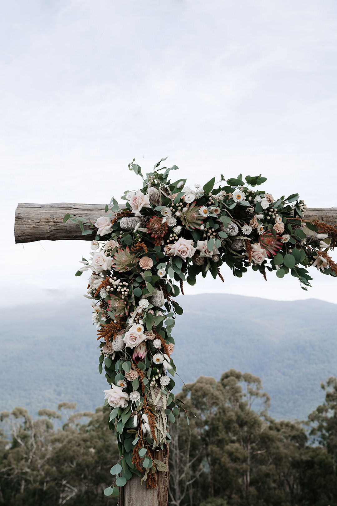 Flower Arch Backdrop Ceremony Aisle Mountain Elopement Petite Visuals