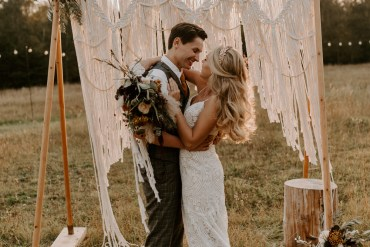 Stunning Outdoor Burnt Orange Wedding Ideas at Golden Hour