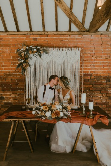 Table Tablescape Decor Candles Flowers Silk Pampas Grass Macrame Backdrop Vineyard Wedding Ideas Jasmine Andrews