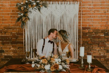 Earthy Bohemian Vineyard Wedding Ideas Featuring Macramé
