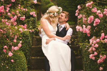 Home-made Country Garden Yurt Wedding