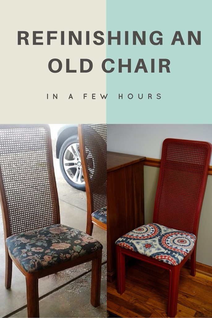 Refinishing an old chair-