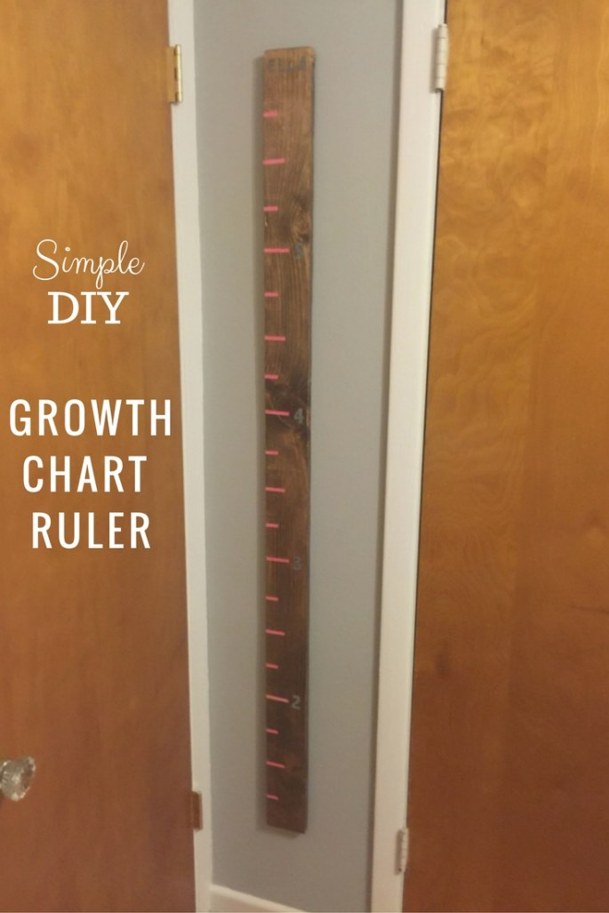 diy wood growth chart ruler