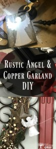 rustic angel and copper garland diy