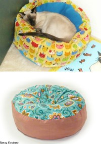 Marshmallow Pet Bed Sewing Pattern - Whimsy Couture Sewing ...