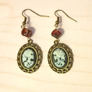 Steampunk skull earrings