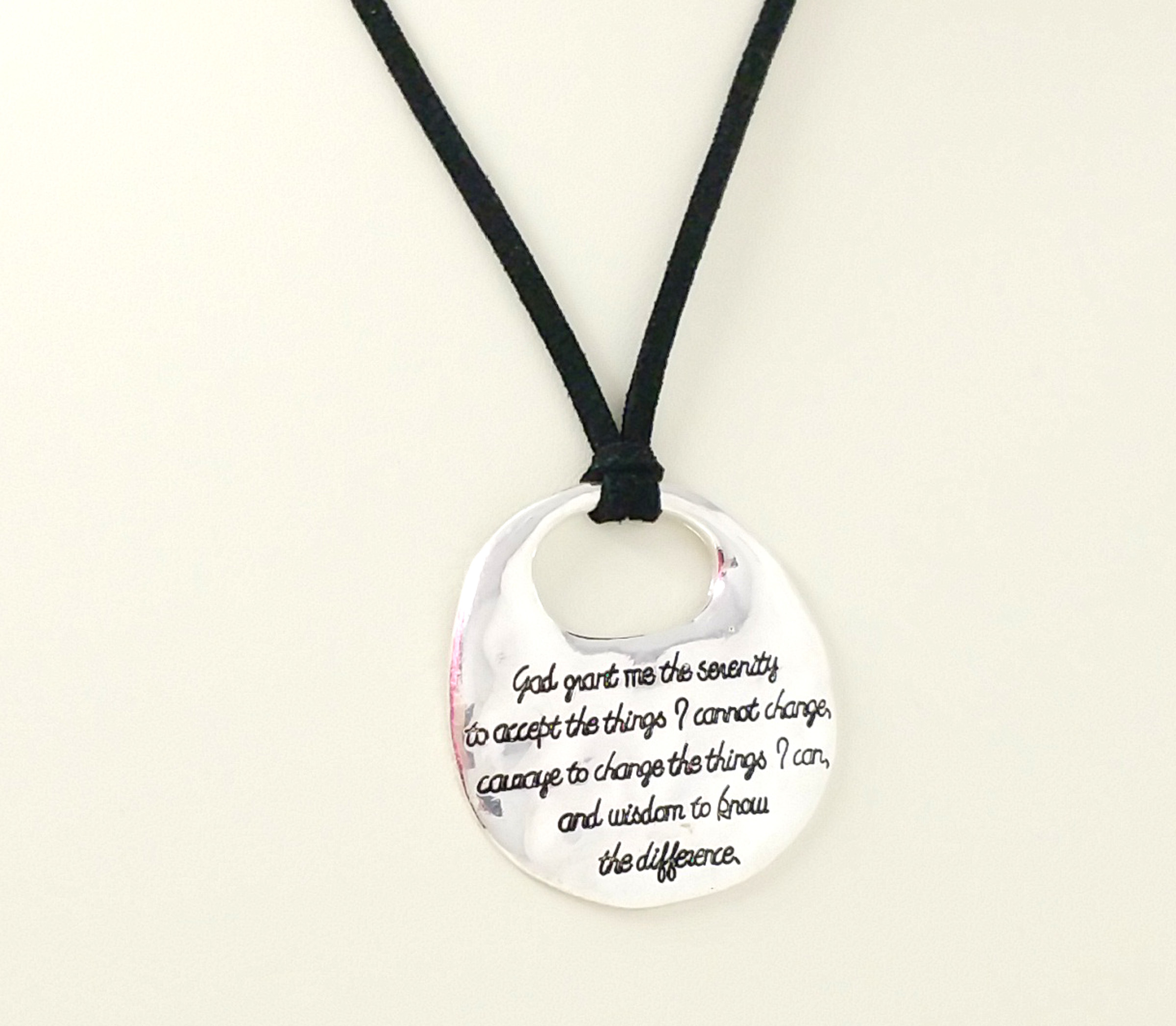close encouragement necklace serenity prayer mermaid products faith spoon pendant manic