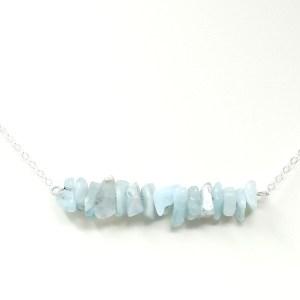 aquamarine chip necklace
