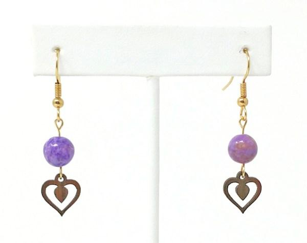 crazy lace heart earrings