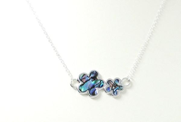 Paua flower necklace