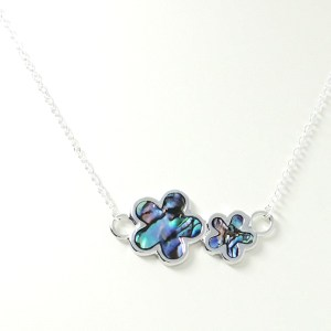 Paua flower necklace