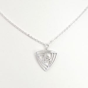 fractal triangle necklace