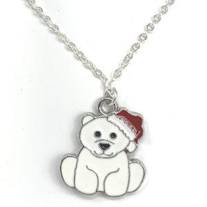 Christmas Polar Bear Necklace
