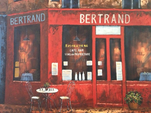 Dear Painting of the Bertrand Cafe  Whimsygizmos Blog