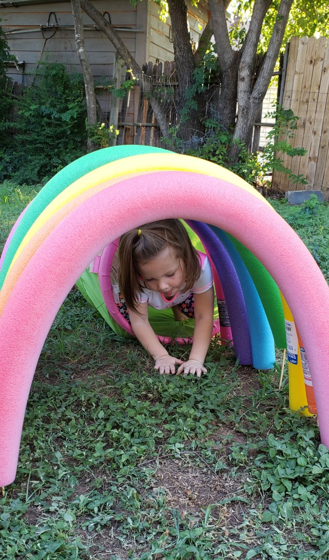 Roo in a Rainbow Tunnel