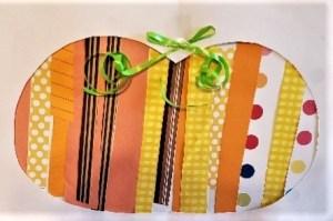 Paper strip pumpkin decoration