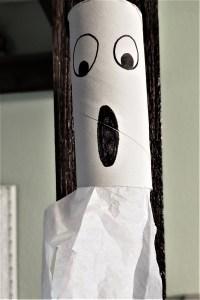 cardboard roll ghost