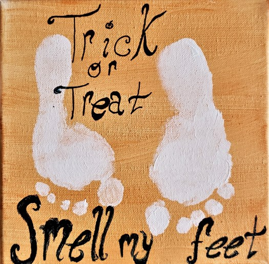 smell my feet painting
