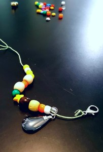 kid-made necklace gift