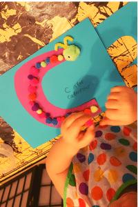Alphabet Craft Letter C as a Ceterpillar