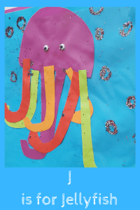 Alphabet Craft Jelly fish with the letter J tentacles