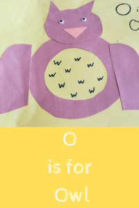 alphabet craft the letter O as an Owl