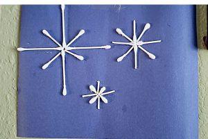 Qtip snowflake crafts