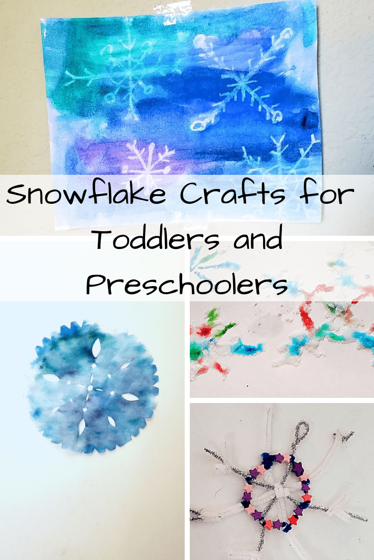Snowflake Crafts for Toddlers and Preschoolers