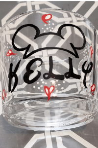 disney sharpie glass mug