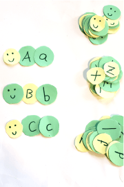Caterpillar Uppercase and Lowercase Matching Activity for preschoolers