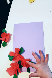 crepe paper flower card