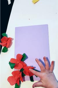 crepe paper flower card