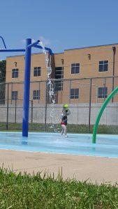 Summer bucket list splash pad