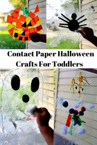 Contact Paper Halloween Crafts for Toddlers
