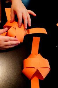 paper pumpkin craft make a sphere