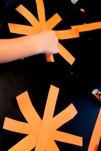 paper pumpkin craft make a star