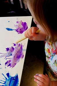 Express Emotions with Creativity through Blow Painting