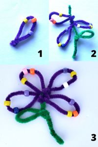 Pipecleaner Flowers tutorial