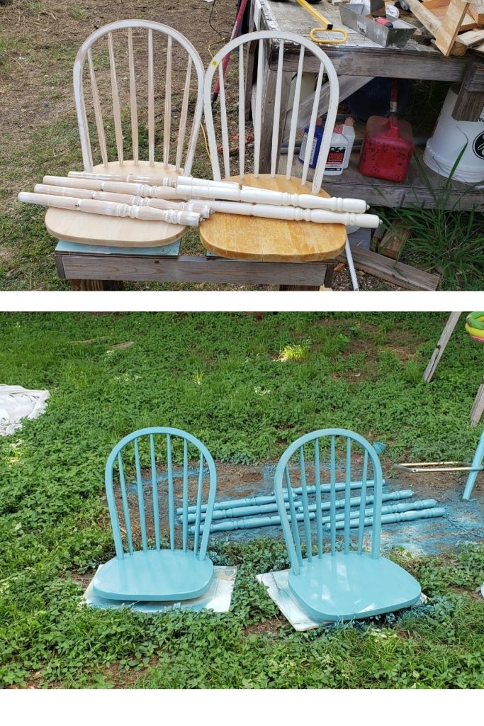 before and after bar stools quarantine diy project