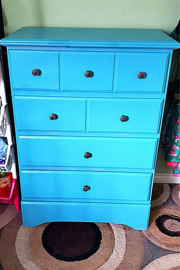 repurposed dresser quarantine DIY project