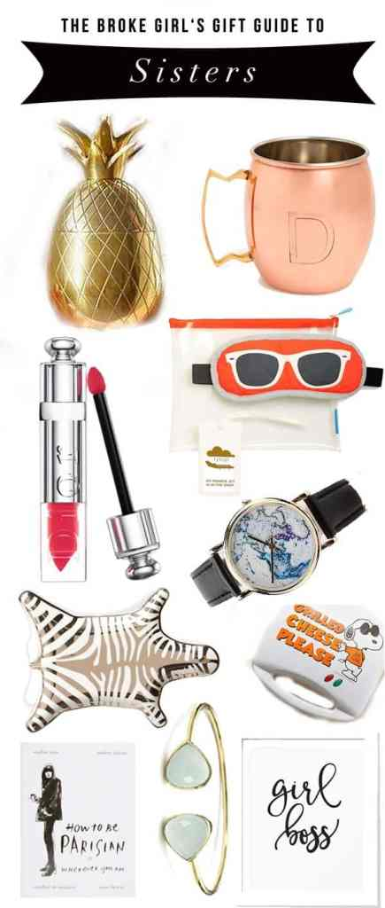 Broke Girl's Gift Guide To Sisters (and other wonderful women)